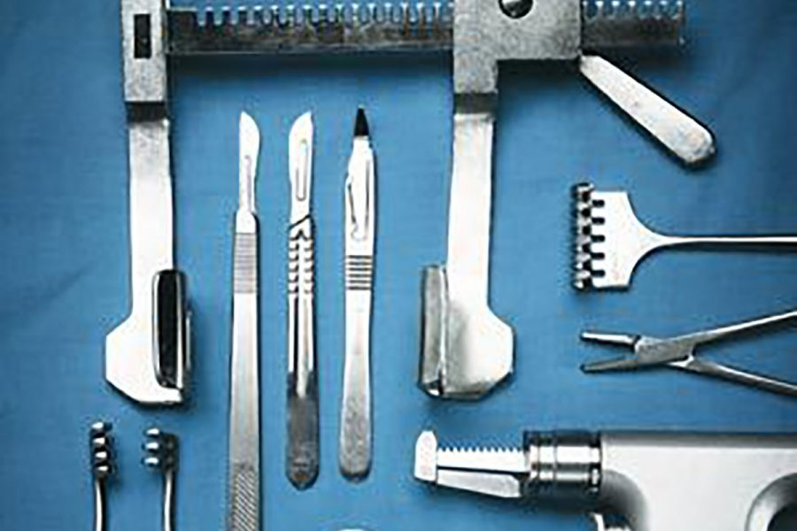 Operating-Room_-sternal-retractor,-sternal-saw,-knives-and-suture-for-open-heart-surgery